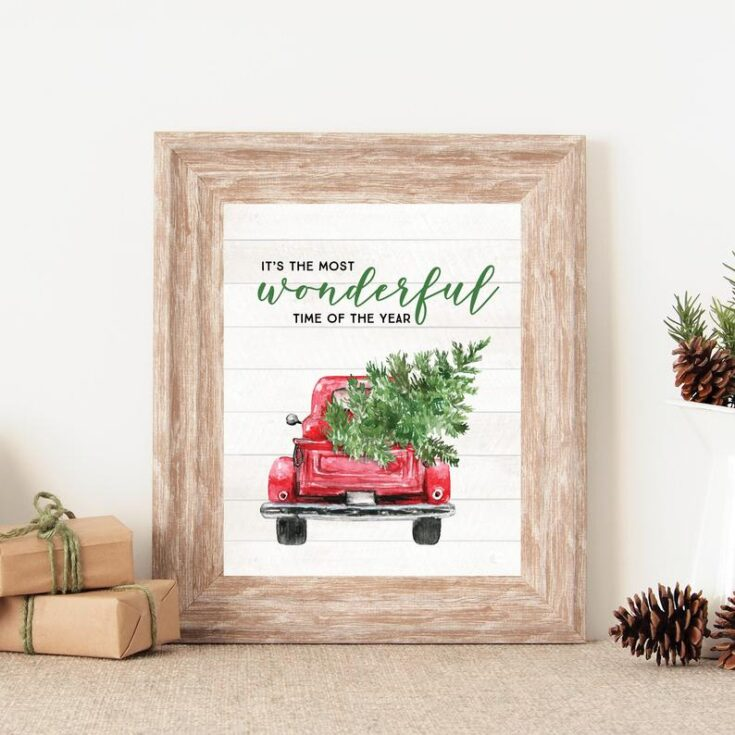 Little Red Truck Sign