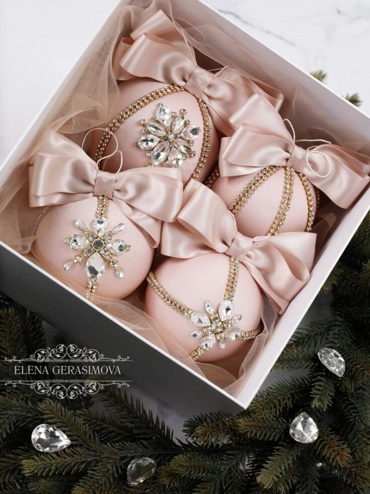 Christmas Rhinestones Ornaments
