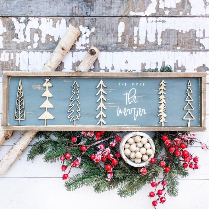 Simple Christmas Tree Sign