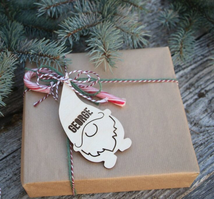 Christmas Wood Gift Tags