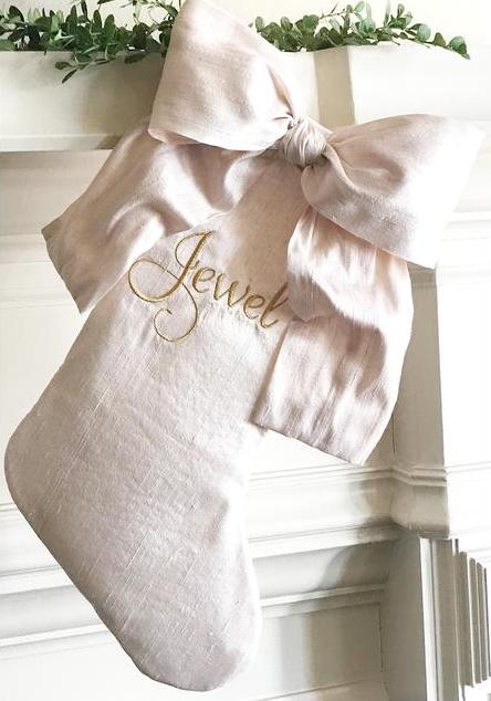 Silk Bow Blush Stocking
