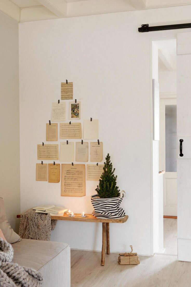 Christmas Tree with Aged Paper