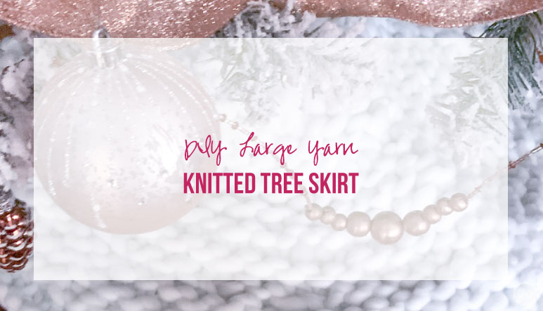 DIY Large Yarn Knitted Tree Skirt