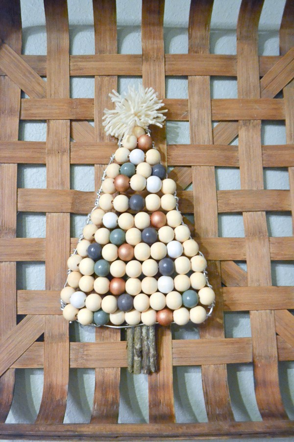 Beaded Christmas Tree Door Decor