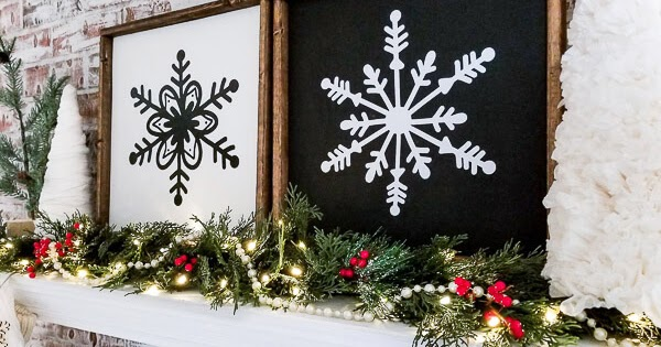 Large Framed Snowflake Signs