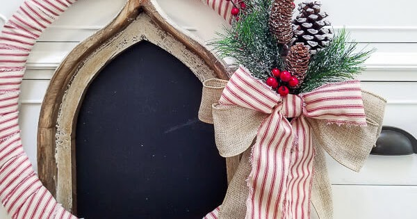 Farmhouse Christmas Wreath for $10