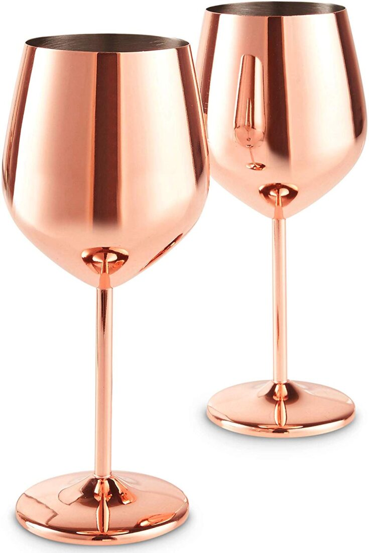 Copper Stainless Steel Wine Glasses