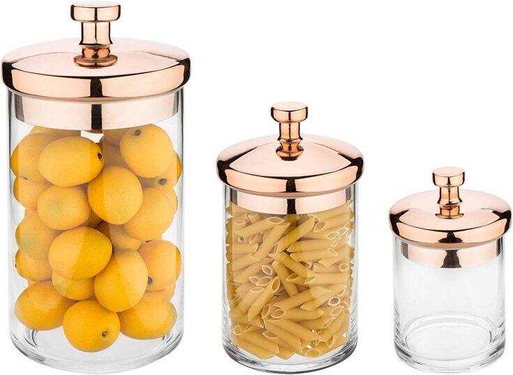 Copper-Tone Kitchen Storage Containers