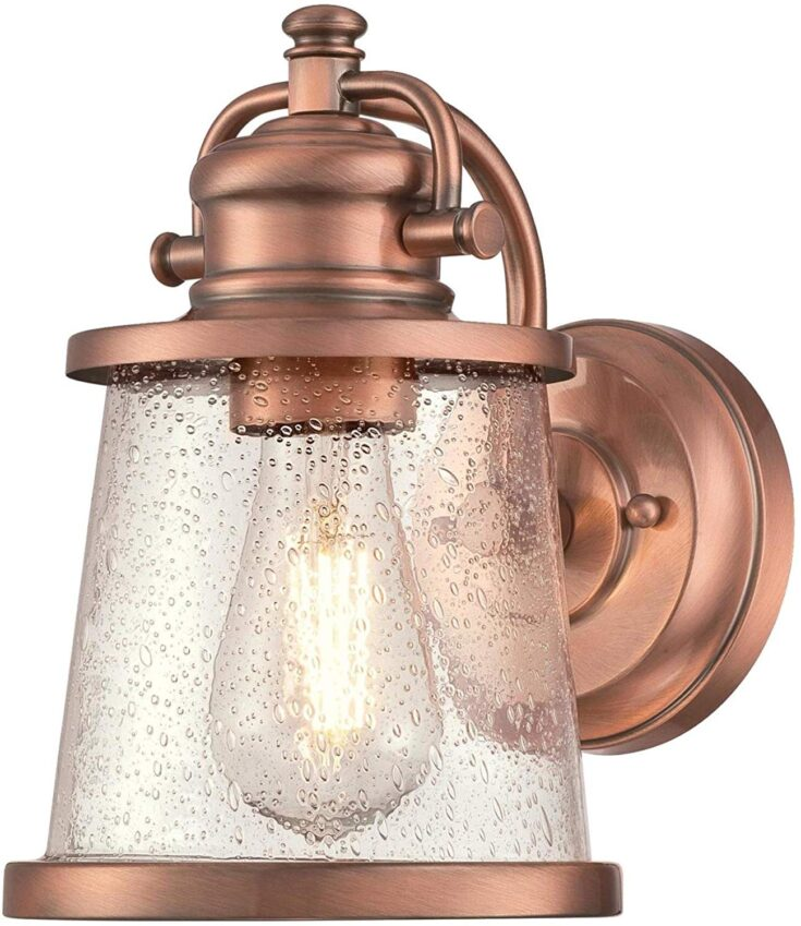 Washed Copper Finish Sconce