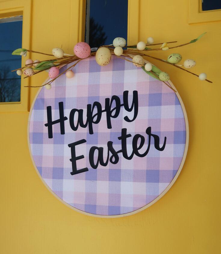 Embroidery Hoop Easter Wreath