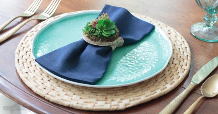 DIY Succulent Napkin Rings