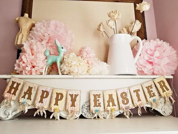 Vintage Style Easter Banner