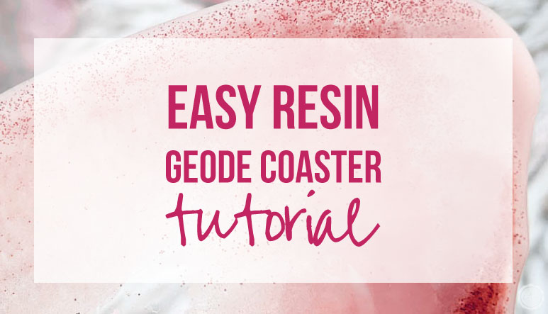 Easy Resin Geode Coaster Tutorial
