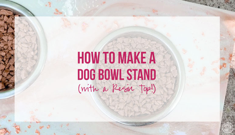 How to Make a Dog Bowl Stand (with a Resin Top!)
