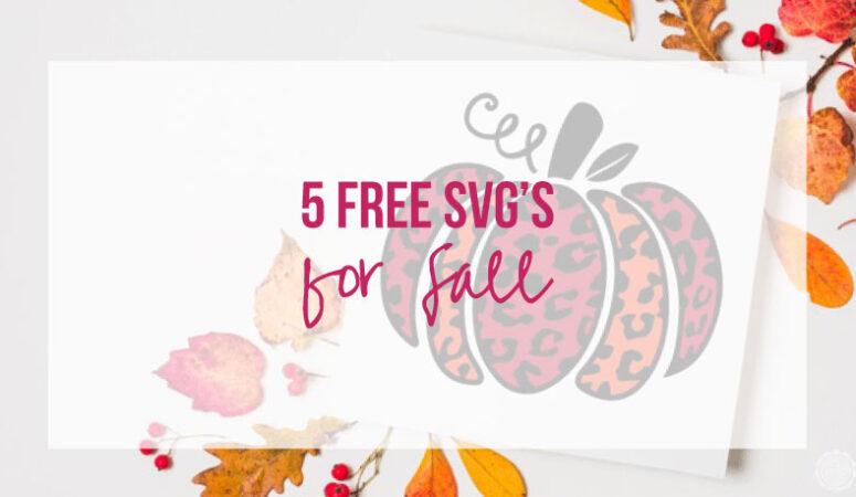5 Free Fall SVG's