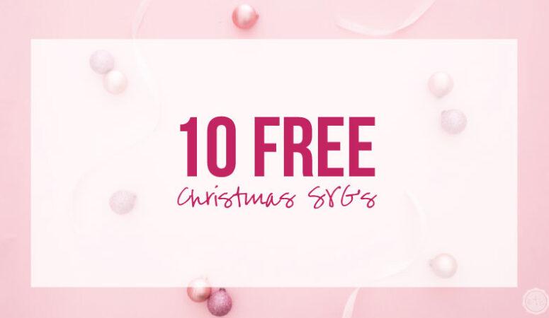 10 Free Christmas SVG's
