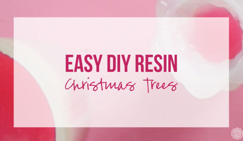 Easy DIY Resin Christmas Trees