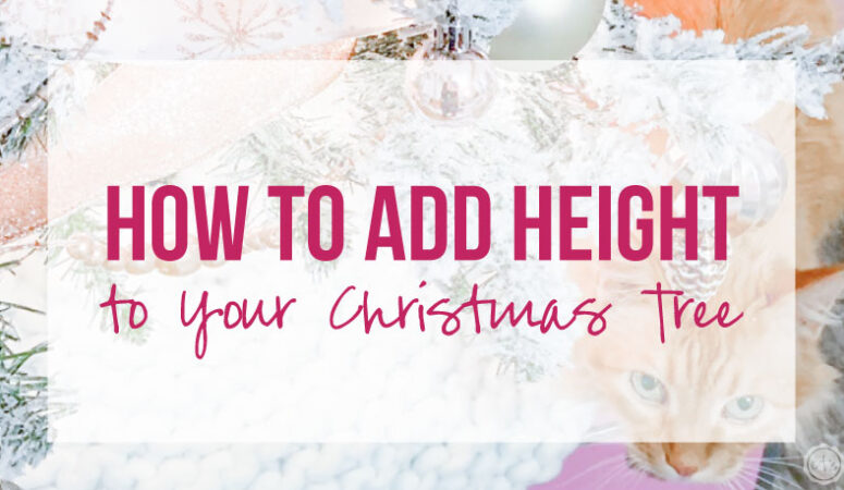How to add Height to Your Christmas Tree