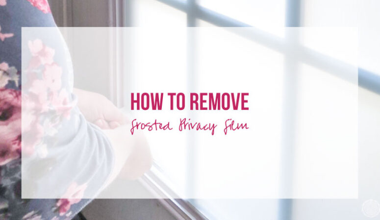 How to Remove Frosted Privacy Window Film