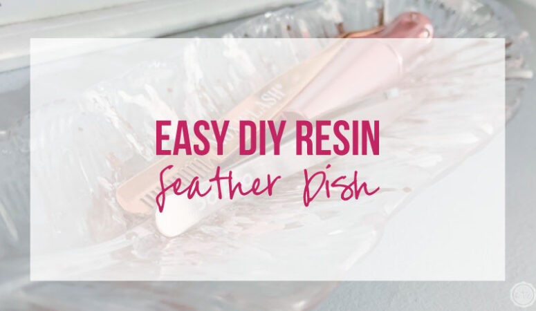 Easy DIY Resin Feather Dish