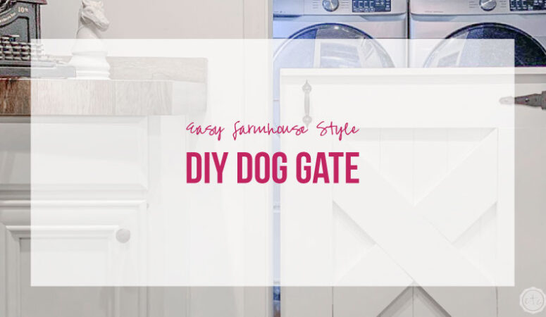 Easy Farmhouse Style DIY Dog Gate